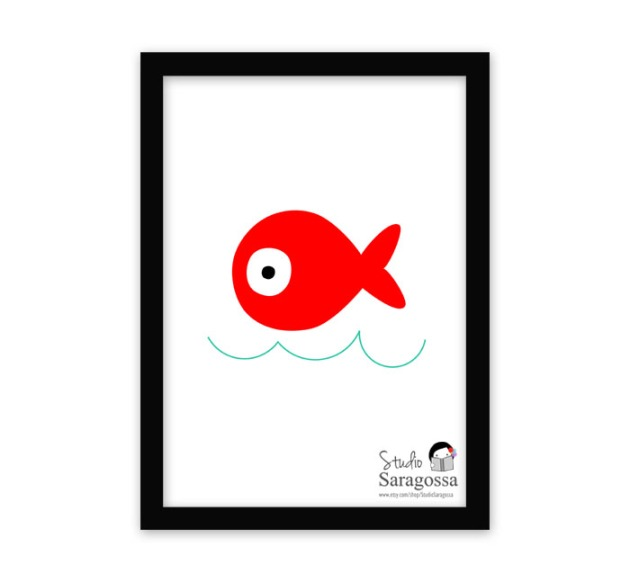 Fish in the Sea by Studio Saragossa on Etsy